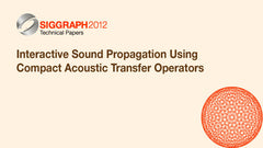 Interactive Sound Propagation Using Compact Acoustic Transfer Operators