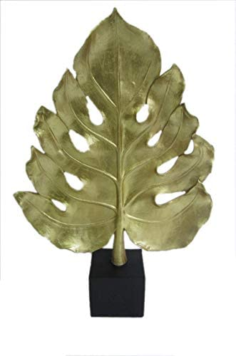 Decozen Artistic Handmade Polyresin Leaf Sculpture A Symbol of Peace and Harmony for Room Decoration Handcrafted Art Sculpture for Living Room Hallway Guest Room Console Table Home Decor