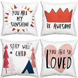 ZUEXT Minimalism Office Throw Pillow Covers 18x18 Inch Double Sided, Cotton Linen Simple Style Burlap Cushion Pillow Case with Words for Sofa Couch Chair Home Decor(You May Say I'm a Dreamer)