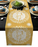 Futuregrace Burlap Table Runner Sunflower You are My Sunshine Fabric Party Table Runner for Wedding Banquet Decoration 1pc 14x72 Inch Rectangle Dining Table Runners Everyday Use