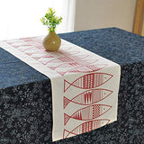 AQWESD Beige Rectangle Table Runner, Table Cloth Home Decoration-Embroidered Linen Cotton Burlap for Holiday Table Setting Decor Table Mat Dining Room