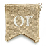 dealzEpic - Baby Shower - Rustic Burlap Banners Baby Shower Party Decoration Props - Swallowtail Shaped Banners