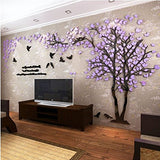 3D Couple Tree DIY Wall Stickers Crystal Acrylic Wall Decal Wall Mural Living Room Bedroom TV Background Home Decoration Art