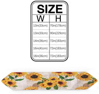 HELLOWINK 72inch Burlap Table Runners for Dinning Room, Vintage Sunflower, Cotton Linens Table Runner Table Cloth for Wedding Party Holiday Home Decor(Newspaper)