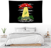 Tapestry Wall Hanging, Shroom Abduction Wall Tapestry with Art Nature Home Decorations for Living Room Bedroom Dorm Decor