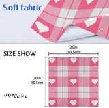 "vvfelixl Valentine'S Day Love Heart Tartan Plaid Checkered Scottish Set Of 6 Placemat 18""X12"" Linen Cloth Napkin For Holiday Party Burlap Table Mats Heat-Resistant Dining Home Decorations Everyday Use"
