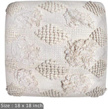 ZANE Home Decoration 100% Cotton Cushion Case Pillow Cover Woven Tufted for Sofa Couch Bedroom