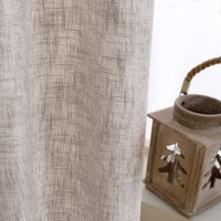 Beige Linen Textured Curtains for Living Room 95 Inches Long Flax Light Filtering Burlap Window Curtains for Bedroom Drapes Double Width