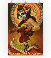 Lantern Press New Orleans, Louisiana - Dia De Los Muertos Marionettes - Day of The Dead (10x15 Wood Wall Sign, Wall Decor Ready to Hang)