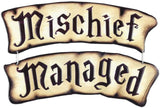 Open Road Brands Harry Potter Mischief Managed Hanging Vintage Embossed Metal Wall Art Sign - an Officially Licensed Product Great Addition to Add What You Love to Your Home/Garage Decor