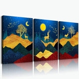 Dandelion Flower Canvas Wall Art for Bedroom Bathroom Decorations 3 Piece Framed Canvas Prints Artwork Vintage Wood Grain Background Abstract Flower Pictures Home Decoration Living Room Wall Decor