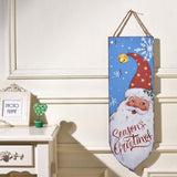 HANBEN Snowman Wood Sign Christmas Holiday Decoration for Door Wall Fireplace Indoor Outdoor 23.6 x 7.9 inches (Design 4)