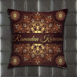 FEDDIY Ramadan Kareem Greeting Home Pillowcase Simple Decoration Sofa Throw Pillowcase Cushion Cover Double-Sided Printing Design