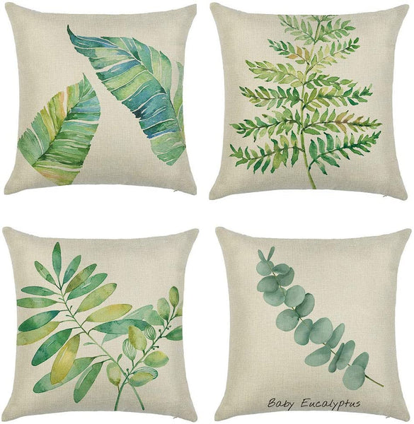 Cushion Cover St. Patrick's Day Gifts, 4PC Simple Fashion Throw Pillow Cases Cafe Sofa Cushion Cover Home Decor, Easter Eid Mubarak Ramadan Decorations