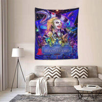 Why-Shop Beetle-Juice Wall Hanging Tapestry, Home Decorations for Living Room Bedroom Dorm Decor in 60x51 Inches