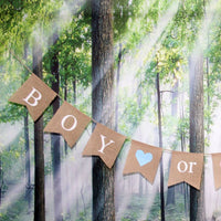 "Gender Reveal Party - Baby Shower Decorations -""BOY or GIRL"" Burlap Banner by Akak Store - Pregnancy Announcement"