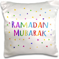 3dRose Ramadan Mubarak-Blessing for The Start of Muslim Fasting Festival-Pillow Case, 16-inch (pc_202099_1)