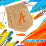 PAKBOOM 15pcs Hand-Painted DIY Burlap Banners - for Kid Adults Party Decor