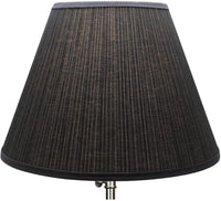 "FenchelShades.com Lampshade 9"" Top Diameter x 18"" Bottom Diameter x 13"" Slant Height with Washer (Spider) Attachment for Lamps with a Harp (Burlap Natural)"