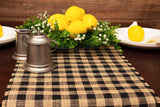 Buffalo Check Burlap Table Runner - Farmhouse Primitive Country Decor for Home and Kitchen. Authentic, Natural Burlap. Perfect Plaid Burlap Table Runner for That Simple Rustic Look 14 Inch X 108 inch