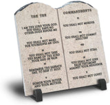 Ten Commandments Plaque | Room Decor For Your Living Room | Home Decor | Christian Gift To Mother Sister | Housewarming Gift (WEB Version)
