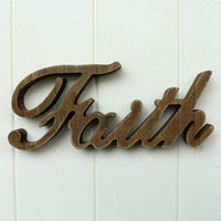 CVHOMEDECO. Matt Black Wooden Words Sign Free Standing Faith Tabletop/Shelf/Home Wall/Office Decoration Art, 10-3/4 x 4-1/2 x 1 Inch