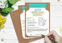 50 Mason Jar Baby Shower Prediction and Advice Cards - Gender Neutral Boy or Girl, Baby Shower Games, Baby Shower Decorations, Baby Shower Favors