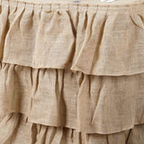 Efavormart 3 Tier Rustic Elegant Ruffled Burlap Table Skirt for Kitchen Dining Catering Wedding Party Decorations Events - 17 Ft