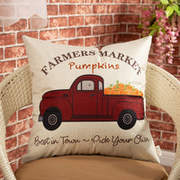 "Fjfz Rustic Family Farmhouse Decorative Throw Pillow Cover Family Where Life Begins and Love Never Ends Sign Housewarming Gift Decoration Home Decor Cotton Linen Cushion Case for Sofa Couch, 18"" x 18"""