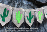 Burlap Fiesta Party | Cactus Decor | Taco Party | Cactus Party Supplies | Birthday Decorations | Cactus Wall décor | Cactus Banner | Nursery décor| Mexican Theme Banner | Fiesta Cactus Sombrero Salsa