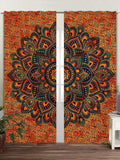 Tapestry Door Curtain Window Curtains Bohemian Drape Balcony Room Decor Curtain Set Window Cover Decorative Elegant Curtains Dorm Art Decor Hippie Medallion Morroca Indie Mandala Tapestry Curtain Wall