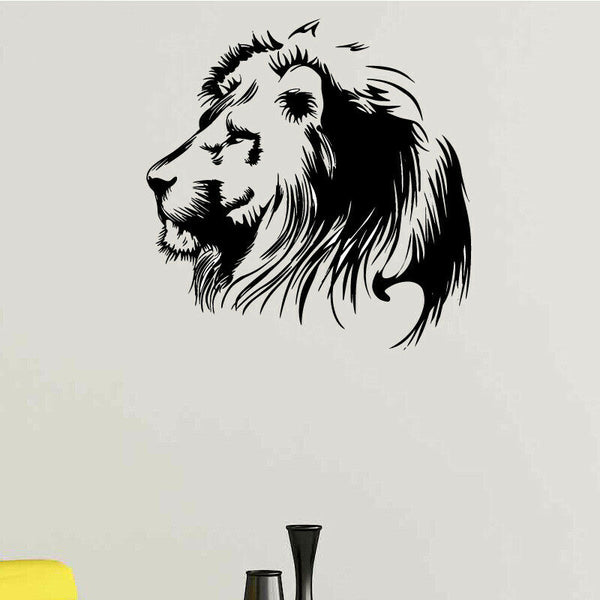 Lion poster home living Room Decor Wall Paper viny art removable Sticker