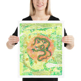 Dragon Watercolor Painting Living Room Home Decor Art Poster