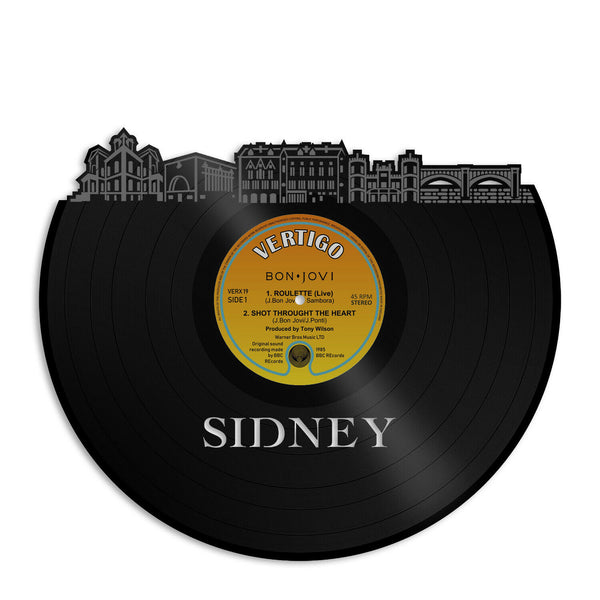 Sidney Ohio Vinyl Wall Art Cityscape Bachelor Gift Home Living Room Decoration