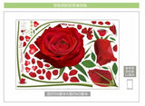 Wall Sticker Rose Home Decor Living Room Bedroom Decoration Removable Wall Decal