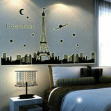 Wall Stickers Home Decor Paris Tower Plane Stars Decals Living Room House Decors