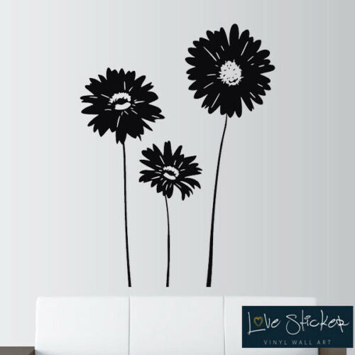 Wall Stickers Flower Floral Vine Living Room Hall Art Decals Vinyl Home Decor