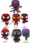 Funko Pop! Marvel's Spider-Man: Miles Morales - Where Are Your Morales - Bundle (Set of 7) - The Amazing Collectables