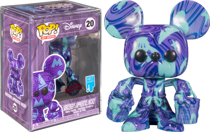 Funko Pop! Mickey Mouse - Apprentice Mickey Artist Series Pop! Vinyl Figure with Pop! Protector