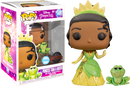 Funko Pop! The Princess and The Frog - Princess Tiana and Naveen Glitter