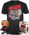Funko Pop! Star Wars: The Mandalorian - Moff Gideon Glow in the Dark Vinyl Figure & T-Shirt Box Set - The Amazing Collectables