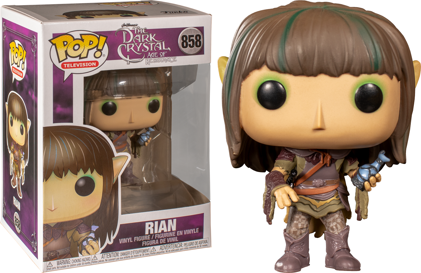 FUNKO POP DARK CRYSTAL AGE OF RESISTANCE DEET GLOW EXCLUSIVE POP PROTECTOR