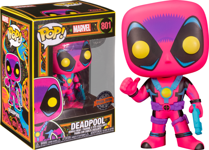 Funko Pop! Marvel: Blacklight - Deadpool Blacklight