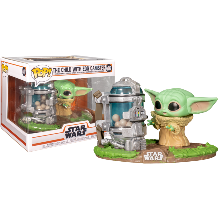Funko Pop! Star Wars: The Mandalorian - The Child (Baby Yoda) with Egg Canister Deluxe
