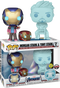 Funko Pop! Avengers 4: Endgame - Hologram Tony Stark & Morgan with Helmet - 2-Pack - The Amazing Collectables