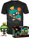 Funko Pop! Space Jam 2: A New Legacy - Marvin the Martian Metallic Pop! Vinyl Figure & T-Shirt Box Set - The Amazing Collectables