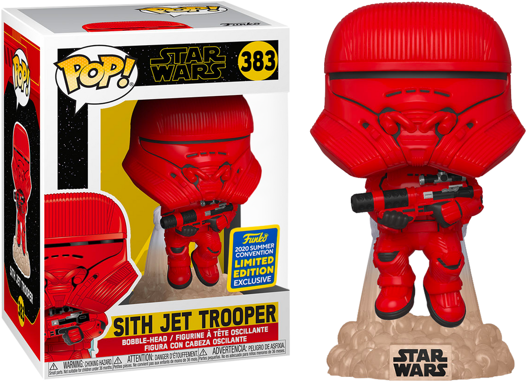 Funko Pop Star Wars Episode Ix The Rise Of Skywalker Sith Jet Trooper 2020 Summer Convention Exclusive The Amazing Collectables