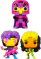 Funko Pop! Marvel: Blacklight - Magneto, Gambit & Rogue Blacklight - Bundle (Set of 3) - The Amazing Collectables