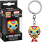 Funko Pocket Pop! Keychain - Marvel: Lucha Libre Edition - El Heroe Invicto Iron Man - The Amazing Collectables