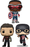 Funko Pop! The Falcon and the Winter Soldier - In Sam We Trust - Bundle (Set of 3) - The Amazing Collectables